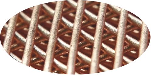 3D printed copper lattice structure