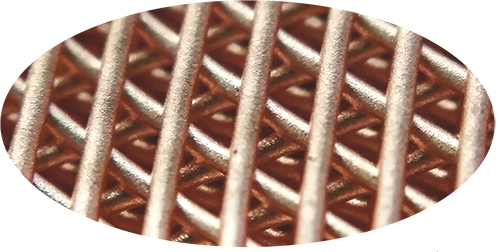 3D printed copper lattice structure