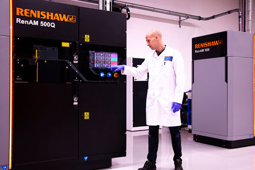 Renishaw RenAM 500Q quad laser machine